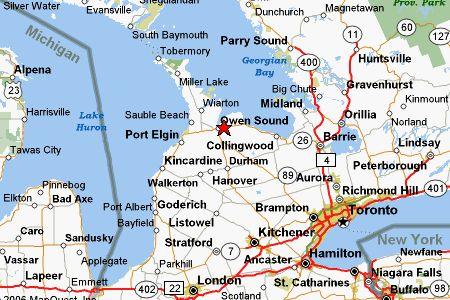 Owen Sound Maps Ontario Canada